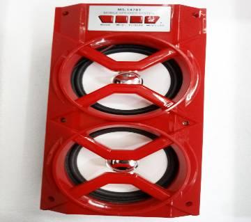 Bluetooth Wireless Speaker MS-147BT - RED