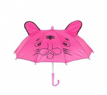 Metal and Polyester Fashionable Umbrella - Pink