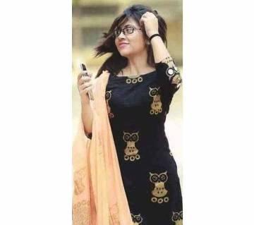 Cotton Unstiched Block Printed Salwar Kameez For Women
