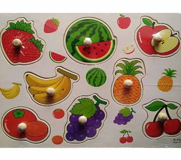 Wooden Education Puzzle for Kids - Multicolor
