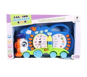 Plastic Talking Alphabet Book Toy Piano - Blue and White