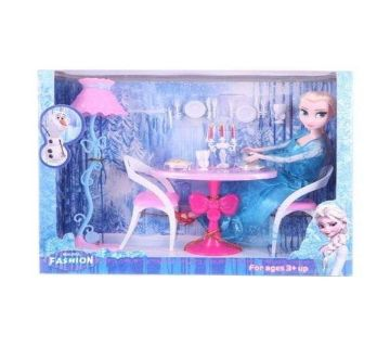 Plastic Frozen Toy Set - Blue and Pink