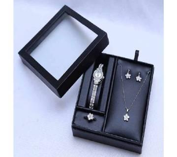 Metal & Cristal Jewelry Set