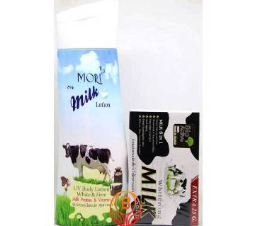 Mori Milk Lotion & Whitening Milk Soap set - Thailand