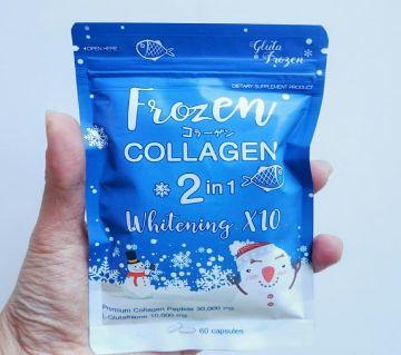 Frozen Collagen 2 In 1 Whitening Capsules 60 Tablet Thailand