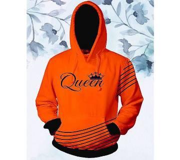 Womens Stylish Hoodie  Orange  Queen  FAS