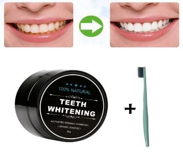 TEETH WHITENING  ACTIVATED CHARCOAL-30g-Uk