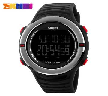 Digital Skmei Watch Black with Ash Design for Men(