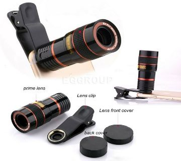 Universal 8X Zoom Lens for Smart Phones Cameras  Black