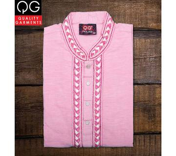 Semi Long Cotton Panjabi for Men