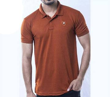 Puple Solid Color Casual Design Half Sleeve Polo Shirt for Men.