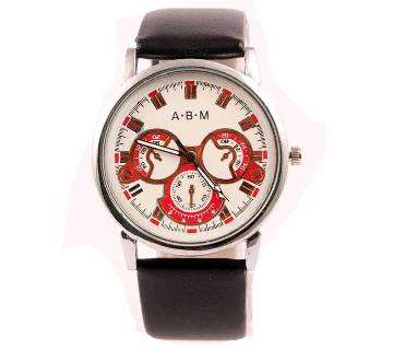 Gents Leather Casual Menz Analog Wrist Watch