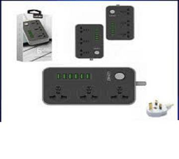 6 USB WITH 3 POWER SOCKET