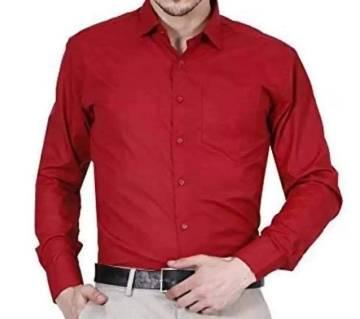 Red Maroon-Mens Casual Smart Shirt