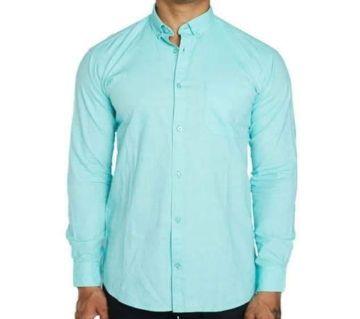 Aqua Green-Mens Casual Smart Shirt