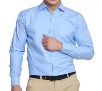Mens Casual Smart Shirt -Light Sky Blue