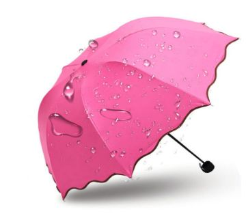 Top Quality  Princess Magic Flowers Dome Parasol Sun/Rain Folding Umbrella