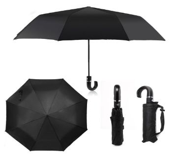 Folding Black Umbrella