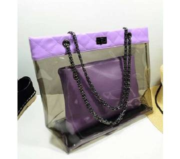 Ladies Transparent Vanity Bag
