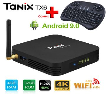 Original Tanix TX6 with Alice UX AllWinner H6  Dual WiFi  6K Android TV Box