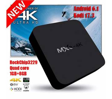 MXQ-4K Android 6.0 Quad Core Smart TV Box