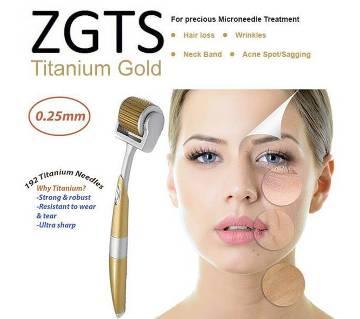 ZGTS 192-Pin-Titanium Gold স্কিনকেয়ার ডার্মা রোলার