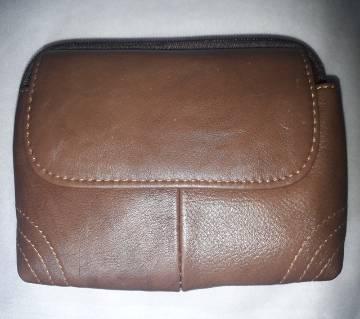 Leather Bag 02 Zippers-03 Pockets Push Bag