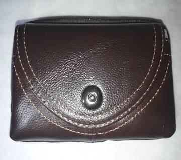 Leather Waist Push Button 03 Pockets Bag