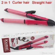 Kemei KM-1055 2 In 1 Dual Roll Hair Straightener
