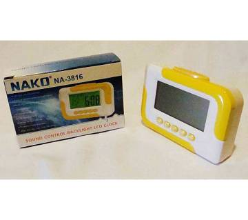 Nako NA-3816 Sound Control Backlight LCD Clock