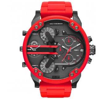 Large Dial European Style DIESEL (Replica) Brand Steel Belt Wrist watch for Men