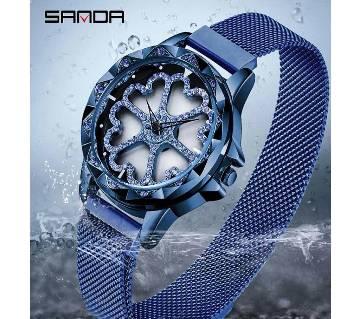 SANDA Heart Shape Rotation Wrist Watch For Women