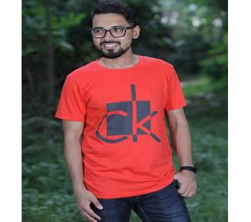 Red Color Cotton Short Sleeve CK T-Shirt for Men (Copy)