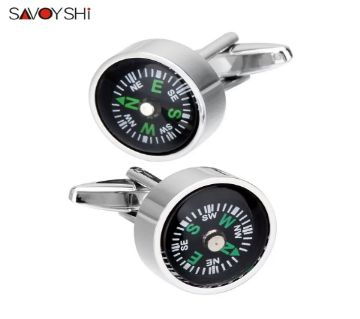 SAVOYSHI Functional Compass shirt cufflinks for mens