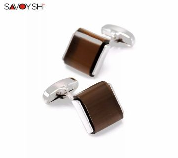 SAVOYSHI Personalized Shirt Cufflinks for Mens