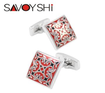 SAVOYSHI Vintage Pattern Classic Art shirt cufflinks for mens