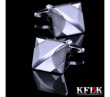 KFLK Rose white square shirt cufflinks for mens