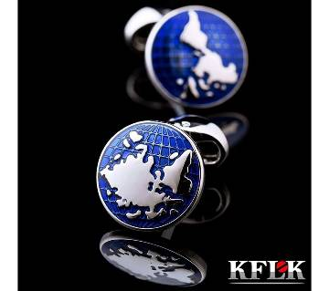 KFLK world map shirt cufflinks for mens