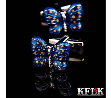 KFLK Brand High Quality Butterfly Shirt Cufflinks for men