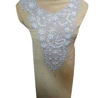 Unstitched Hand Crafted Soft Georgette Kurti