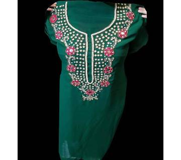 Unstitched Hand Crafted Soft Georgette Kurti