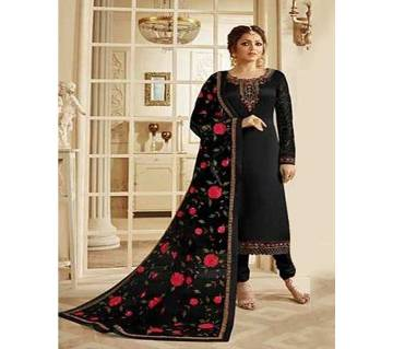 Semi-Stitched Indian Weightless Georgette Embroidery Long Gown
