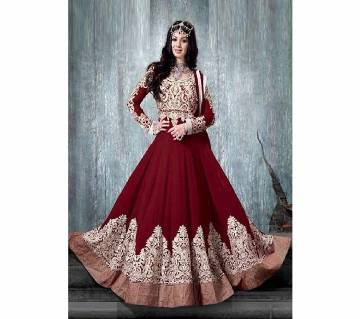 Semi-Stitched Embroidery Georgette Gown (Copy)