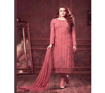 Semi-Stitched Embroidery Georgette Salwar Kameez copy