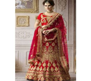 Semi-Stitched Indian Weightless Georgette Embroidery Lehenga