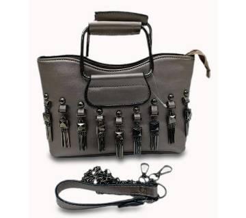 Latest fashion women dacorative pattern leather designer handbag