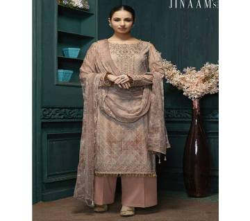 Jinaam Allure Unstitched Embroidery Three Piece
