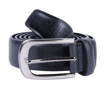 Black Artificial Leather Casual Belt With dot Texture