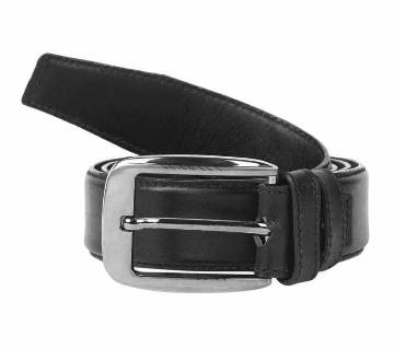 Black Leather Formal Belt  for Men