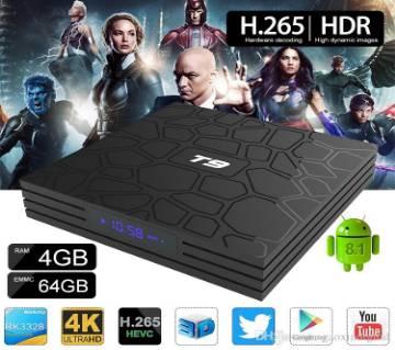 T9 Android 8.1 RK3328 Quad Core টিভি বক্স RAM-4GB ROM-32GB